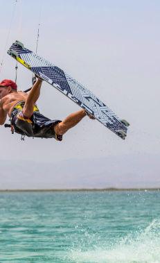Kitesurfing in Shuraabad