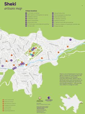 Sheki artisans map