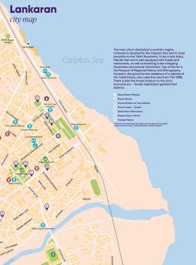 Lankaran city map & Lankaran-Astara regional map