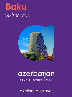 Baku visitor map