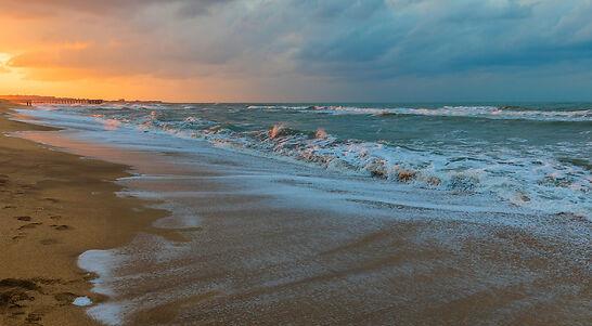 Sandy beaches of Absheron Peninsula